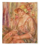 Woman In Muslin Dress, 1917 Fleece Blanket