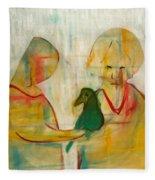 Women Holding A Bird Fleece Blanket