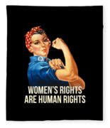 Womens Rights Are Human Rights Tshirt Fleece Blanket