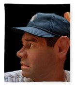 Wood Carving - Babe Ruth 002 Profile Fleece Blanket