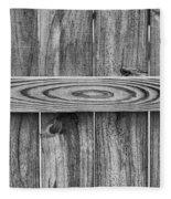 Wood Grain Black And White Fleece Blanket