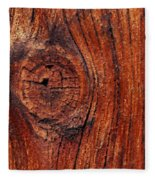 Wood Knot Fleece Blanket by ISAW Company