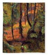 Wooded Path 1884 Fleece Blanket