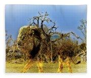 Wrapped Lion Fleece Blanket