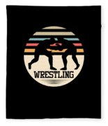 Wrestling Art Fleece Blanket