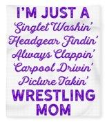 Wrestling Singlet Washin Mom Purple Gift Dark Fleece Blanket