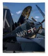 Ww2 F4u Corsair  Fleece Blanket