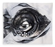 X Ray Fish Fleece Blanket