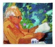 Yehuda Reading Fleece Blanket