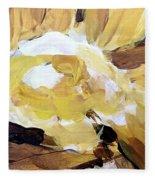 Yellow #4 Fleece Blanket