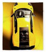 Yellow And Black Fleece Blanket