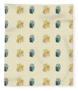 Yellow And Green Present Pattern Fleece Blanket