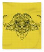 Yellow Buffalo Fleece Blanket