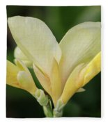 Yellow Canna Lily Fleece Blanket