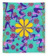 Yellow Flower Fleece Blanket