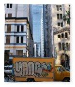 Yellow Graffiti Truck Downtown La Fleece Blanket