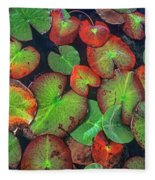Yellow Pond Lily, Weminuche Wilderness Fleece Blanket