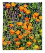 Yellow Poppies Of California Fleece Blanket