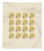 Yellow Presents Pattern Fleece Blanket
