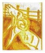 Yellow Ram Fleece Blanket