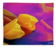 Yellow Tulips 2 Fleece Blanket