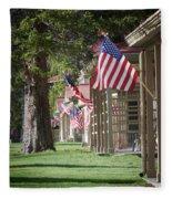 Yellowstone Flags Fleece Blanket