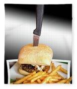 Yopper Burger Fleece Blanket