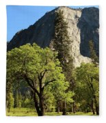 Yosemite Valley Serenity Fleece Blanket
