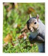 Your Friendly Neighborhood Squirrel Fleece Blanket