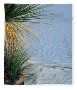 Yucca Plant In Rippled Sand Dunes In White Sands National Monument, New Mexico - Newm500 00113 Fleece Blanket