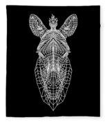 Zebra Mesh Fleece Blanket