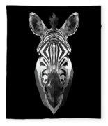 Zebra's Face Fleece Blanket