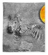 Zebras No 02 Fleece Blanket