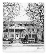 Zeta Tau Alpha Sorority House, Purdue University, West Lafayette, Indiana, Fine Art Print Fleece Blanket