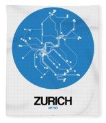 Zurich Blue Subway Map Fleece Blanket