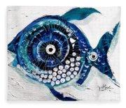 Enter The Icehole Fish Fleece Blanket
