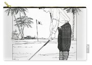 1920's Vintage Golfer Carry-all Pouch