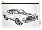 1971 Chevrolet Chevelle Ss Illustration Carry-all Pouch