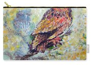Acrylic Painting Fuzzy Yellow Owl  Carry-all Pouch