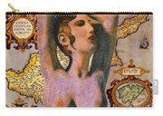Aphrodite And Ancient Cyprus Map Carry-all Pouch