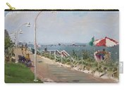 Beach Border Walk In Norfolk Va Carry-all Pouch