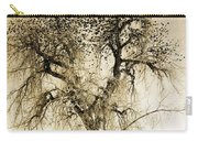 Bird Tree Fine Art  Mono Tone And Textured Carry-all Pouch