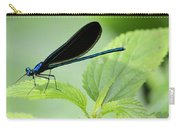 Black Winged Damselfly 7261 Carry-all Pouch