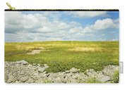 Blueberry Field With Blue Sky And Clouds In Maine Carry-all Pouch