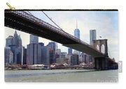 Nyc Skyline-brooklyn Bridge Carry-all Pouch