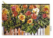 Chair Of Flowers Carry-all Pouch