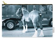 Clydesdale In Black And White Carry-all Pouch