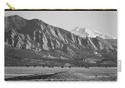 Colorado Rocky Mountains Flatirons With Snow Covered Twin Peaks Carry-all Pouch