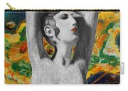 Cyprus Map And Aphrodite Carry-all Pouch by Augusta Stylianou