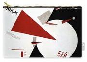 Drive Red Wedges In White Troops 1920 Carry-all Pouch by Lazar Lissitzky